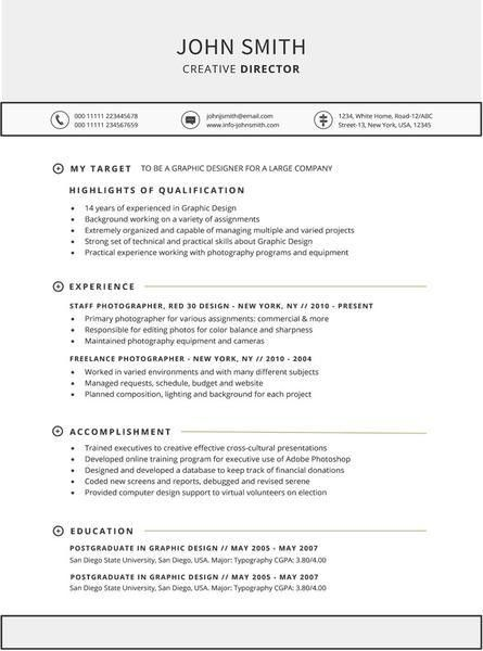 Functional Resume Template - Buy CV Template for Word - GemResume