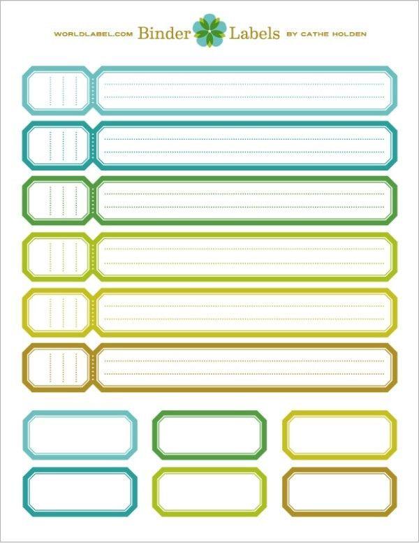 Binder Labels in a vintage theme by Cathe Holden | Worldlabel Blog