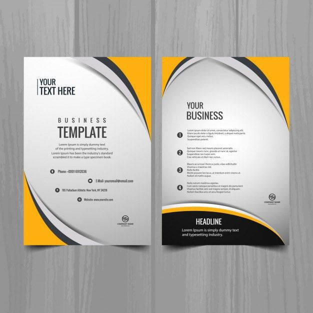 Modern business brochure template Vector | Free Download