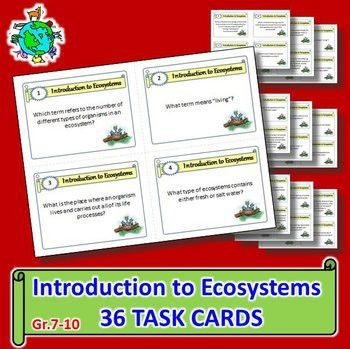 Ecosystems - Task Cards {With Editable Template} | Life science ...