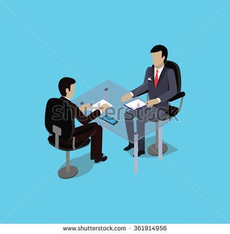 Isometric Hiring Recruiting Interview Look Resume Stock Vector ...