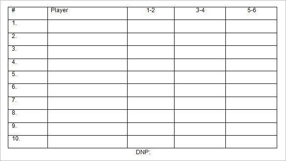Baseball Line Up Card Template – 9+ Free Printable Word, PDF, PSD ...