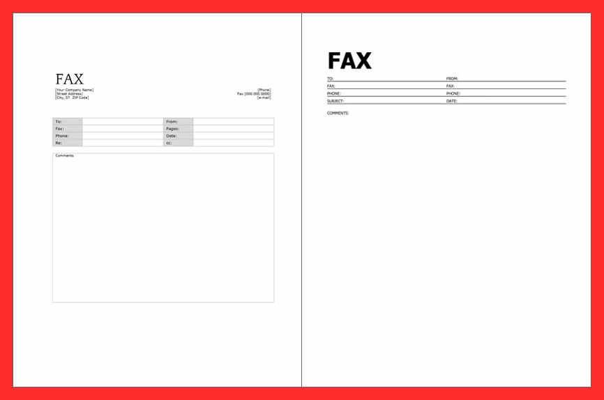fax cover sheet free print