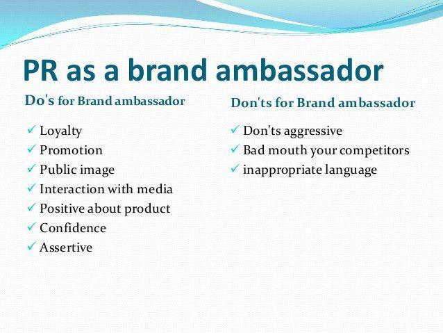 Role of PR As Brand Ambassador