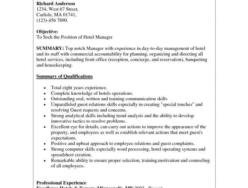 Concierge Resume - Resume Example