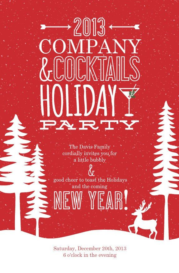 Corporate Holiday Party Invitations - plumegiant.Com