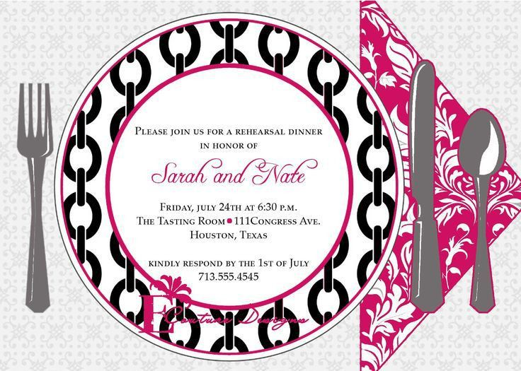 Dinner Invitation Template | Invitation Templates | Flowers ...