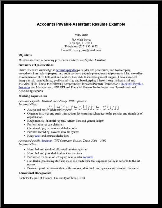 Download Account Payable Clerk Sample Resume ...
