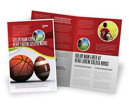 Sport Balls Brochure Template Design and Layout, Download Now ...