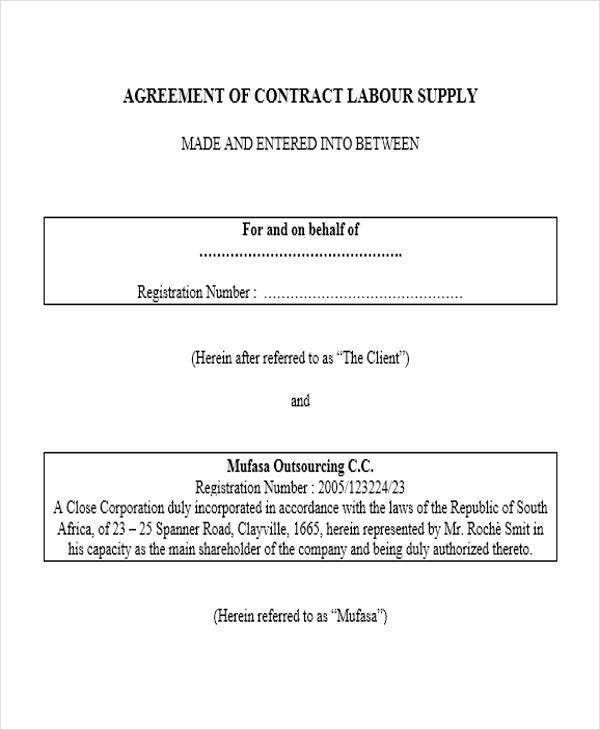 Supply Contract Template. Basic Supply Contract Template Jpg 10+ .