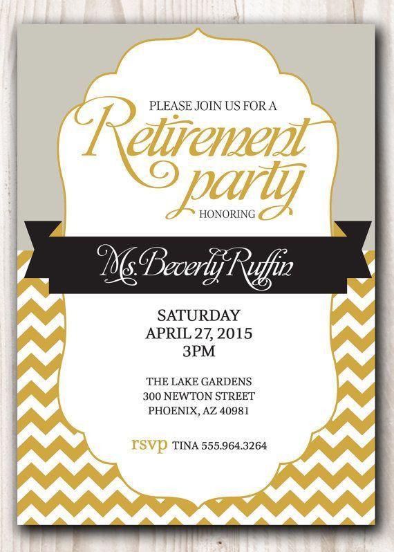 Best 25+ Retirement invitations ideas on Pinterest | Retirement ...