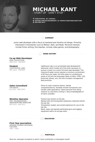 Sumptuous Design Ideas Web Resume 16 How To Make A Personal Resume ...
