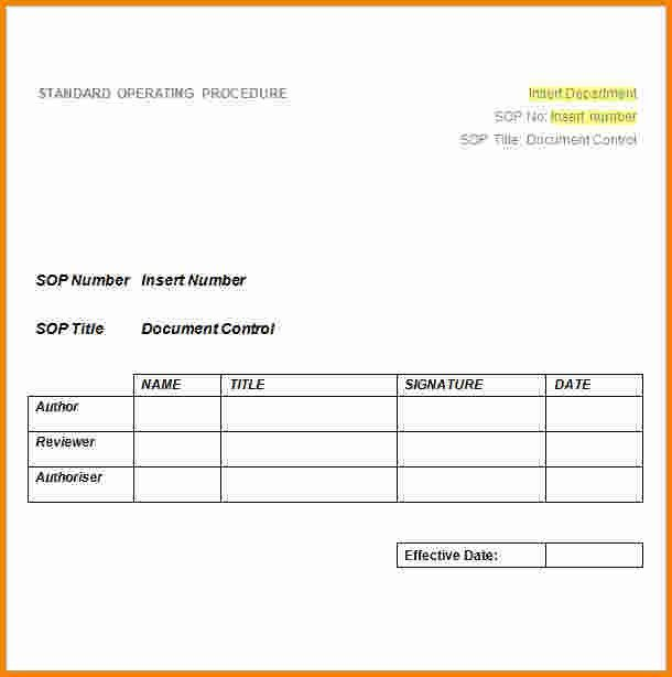 6+ standard operating procedure template word | cashier resume