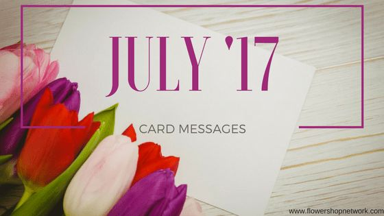 July '17 Card Messages