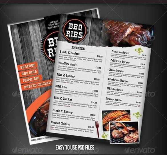 BBQ Menu Template – 23+ Free PSD, EPD Documents Download! | Free ...