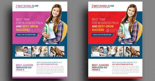 20 Cool Flyer Templates For Kid & School – Desiznworld