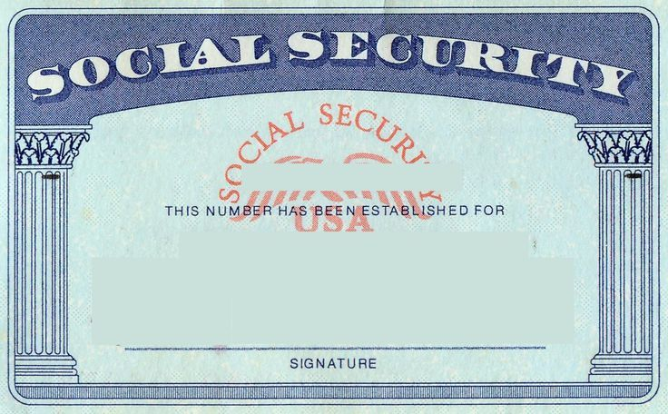 blank social security card template | Social Security card Print ...