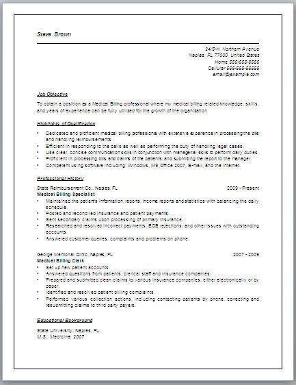 37 Best Resume Images On Pinterest | Resume Ideas, Medical Billing ...