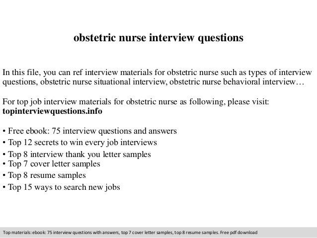 Obstetric nurse interview questions