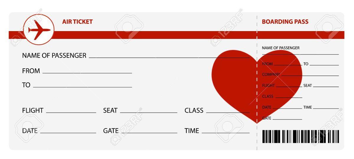 Blank Plane Ticket Blank Template - Imgflip