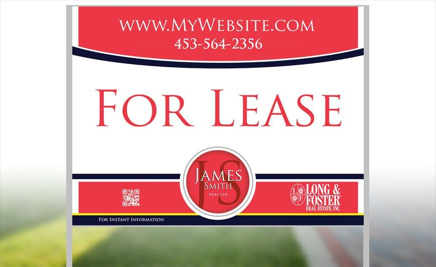 Long Foster Yard Signs | Custom Long Foster Yard Signs