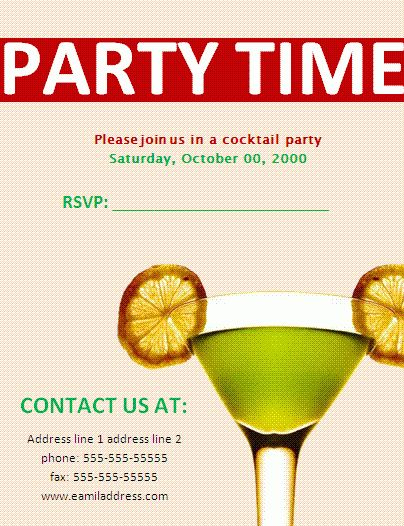 Party Invitation Templates | Free Business Templates