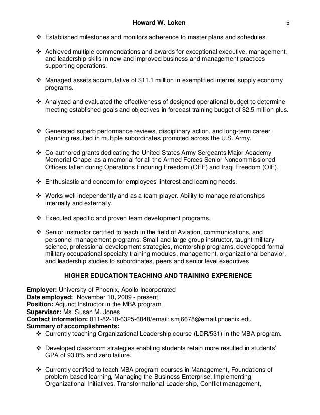 adjunct professor resume adjunct professor resume example history