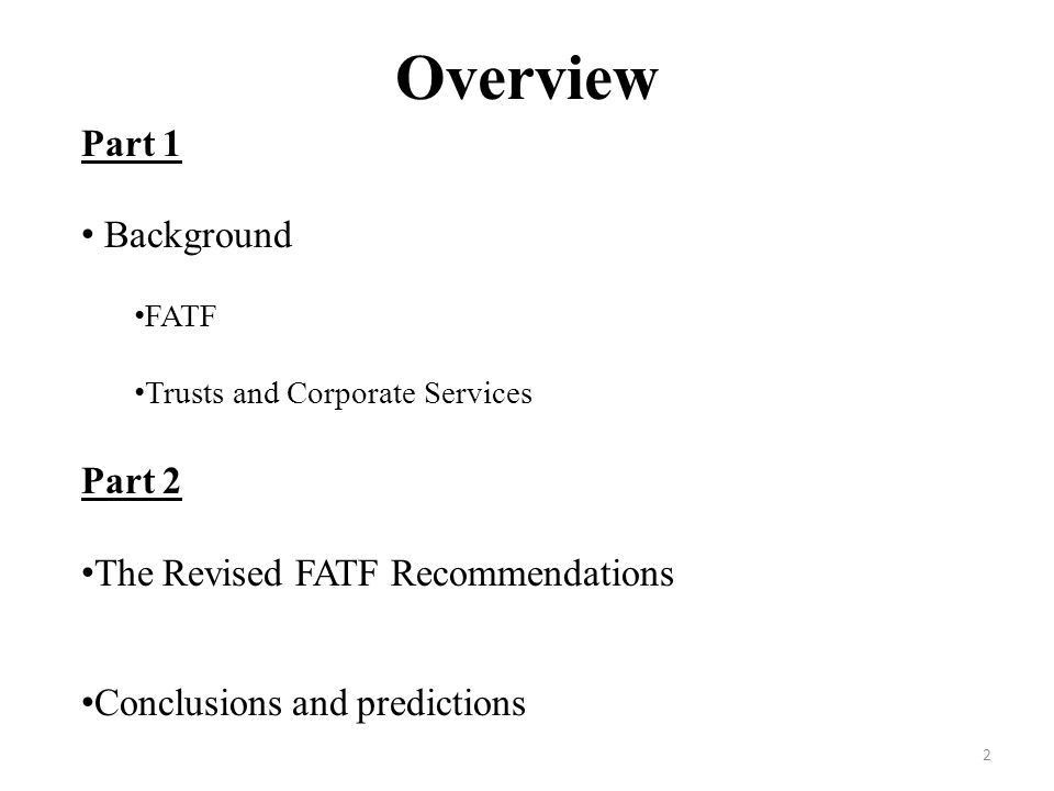 FATF Revised Recommendations January 2013 Ben Tonner Attorney ppt ...