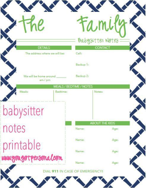 The 25+ best Babysitter notes ideas on Pinterest | Babysitter ...