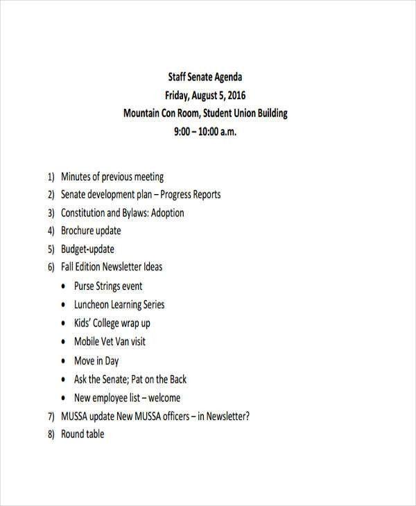 Agenda Forms | Jobs.billybullock.us