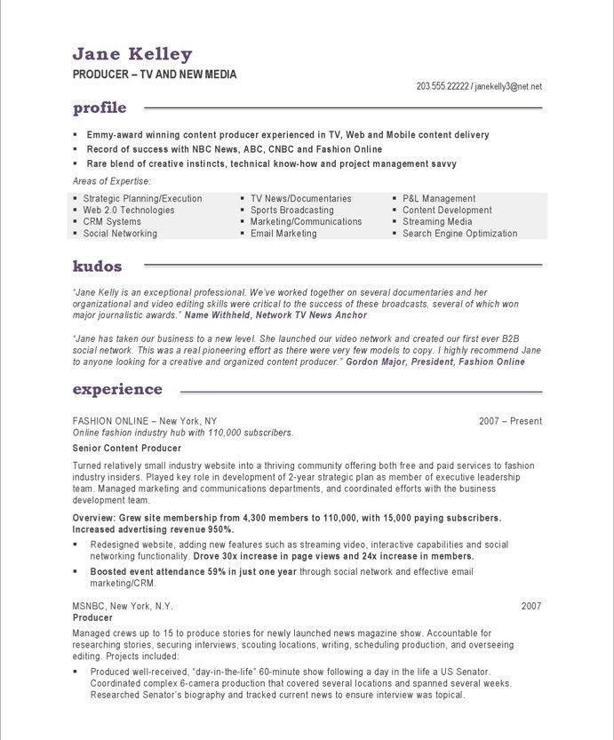 16 best Media & Communications Resume Samples images on Pinterest ...