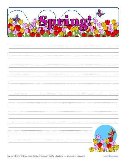 Spring Printable Lined Writing Paper