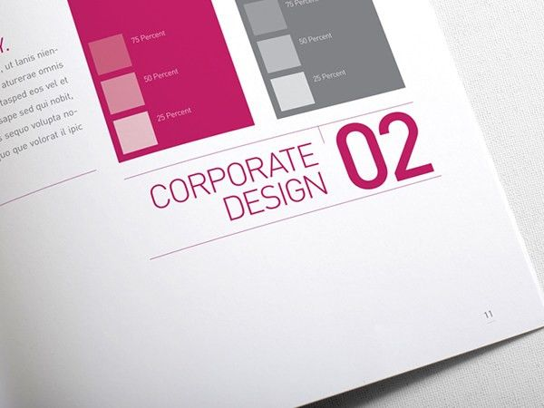 Corporate Design Manual Guide - 28 Pages on Behance