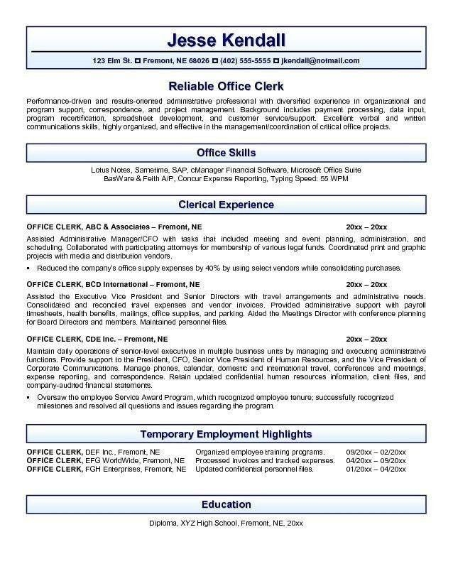 office administration medical sample resume prepared centennial ...