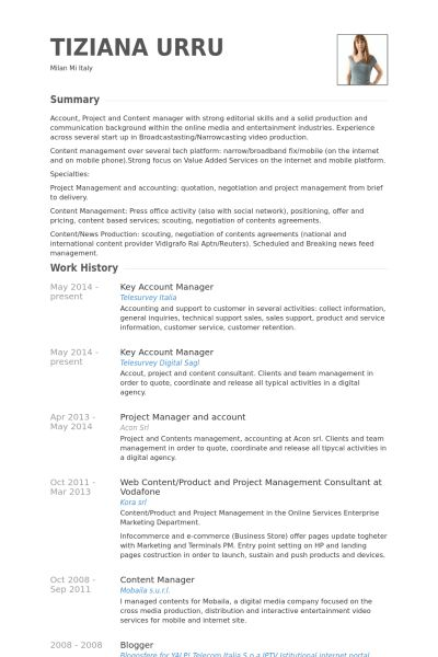 Key Account Manager Resume samples - VisualCV resume samples database