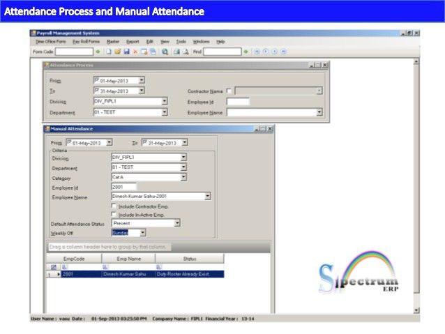 Spectrum- payroll Management ,