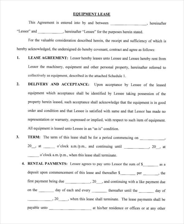 Printable Blank Lease Agreement Form   15+ Free Word, PDF .