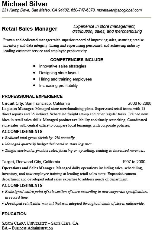 10+ Retail Resume Template - Free Word, Excel, PDF