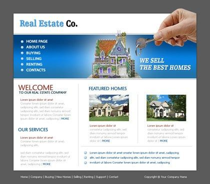 Free website templates with Real_Estate theme - 1