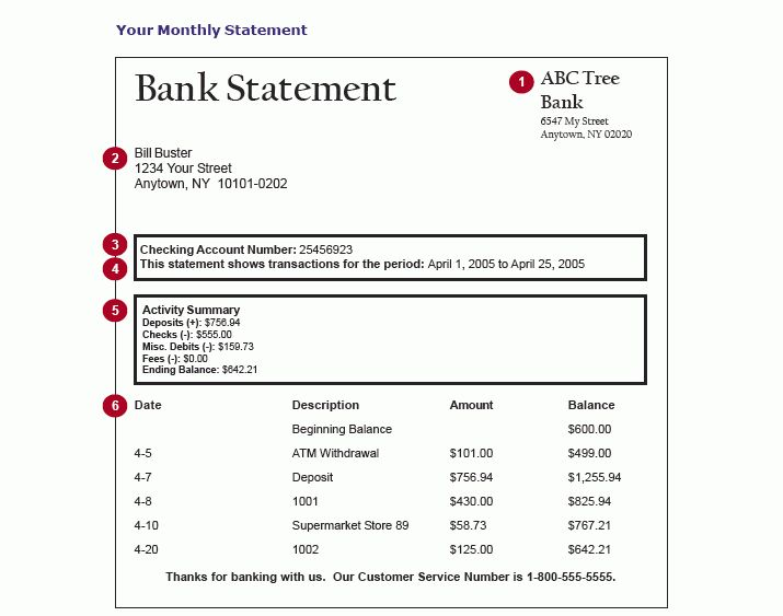 Sample Bank Statement Print Out | Learn Now Or Pay Later ...