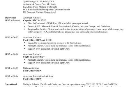 aircraft pilot resume