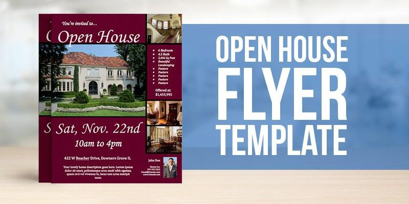 Open House Flyer Template 30 Free PSD Format Download Free ...