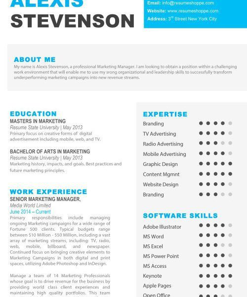 Stylist And Luxury Resume Templates For Pages 6 Resume Templates ...