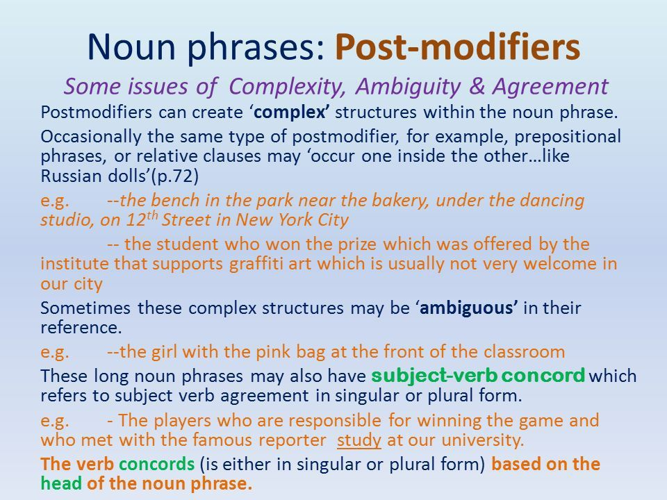 A Linguistic Toolkit Grammar Chapter 10: Noun phrases: who or what ...