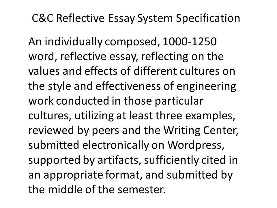 System Design - EE321X Civilizations and Cultures Reflective Essay ...