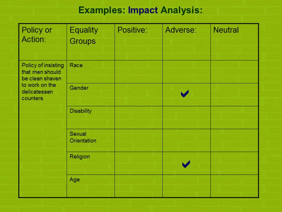 Equality Impact Assessments – Factsheet | Diversity McKenzie