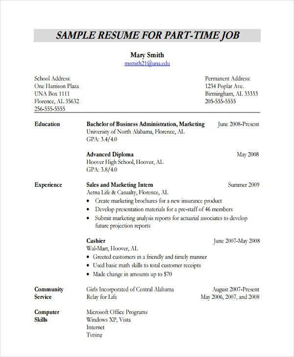 29+ Simple Work Resume Templates | Free & Premium Templates