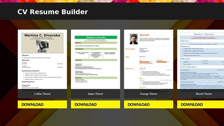 Resume Builder - Download