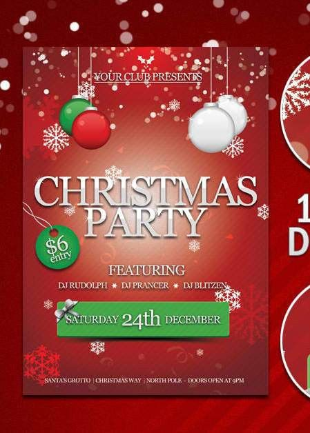 Free Printable Christmas Party Flyers – Happy Holidays!