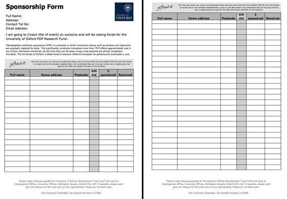 Free Sponsorship Form Template - http://resumesdesign.com/free ...
